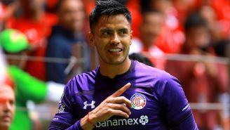 Alfredo Talavera durante el partido contra Chivas