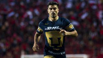 Víctor Malcorra durante un juego con Pumas
