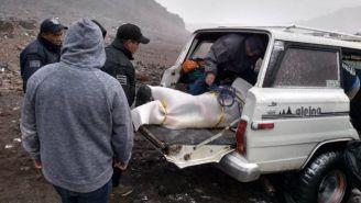 Personal de rescate trabaja en el Pico de Orizaba