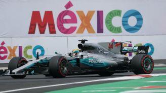 Hamilton, durante el Gran Premio de México 2017