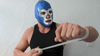 Blue Demon Jr. se prepara para una lucha