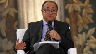 Otto Granados durante una conferencia de prensa