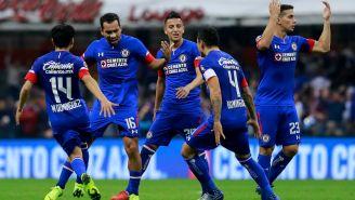 Cruz Azul festeja gol de Adrián Aldrete