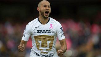 González celebra su anotación contra Tigres