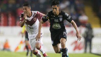 Esquivel y Aguirre durante un partido en Veracruz