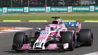 Checo Pérez durante práctica del Gran Premio de México