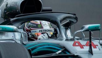 Lewis Hamilton en la clasificación para el GP de México