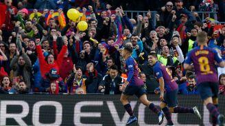 Barcelona durante el Clásico de España