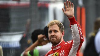 Sebastian Vettel saluda a la afición mexicana tras carrera de F1