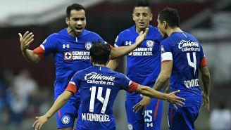 Cruz Azul celebra una anotación ante León
