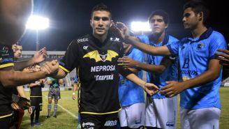 Ezequiel Orozco, durante el encuentro ante el Tampico Madero