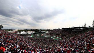 Vista general del Foro Sol en el Gran Premio de México