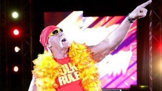 Hulk Hogan hace su entrada al ring