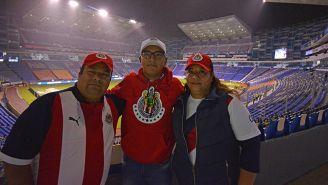 Aficionados de Chivas en el Cuauhtémoc
