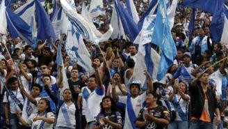 Aficionados del Puebla durante un partido
