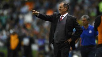 Enrique Meza durante un partido del Puebla