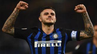 Mauro Icardi festeja gol con el Inter