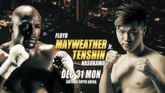 Imagen promocional del combate entre Mayweather y Nasukawa