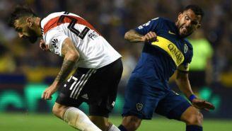 Prato y Tévez en un Boca vs River