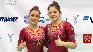Dafne y Melissa en el Mundial de Gimnasia de Trampolín