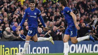Morata en un partido con el Chelsea