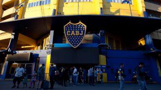 La fachada de La Bombonera