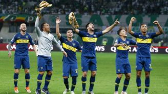 Jugadores de Boca Juniors festejan pase a la Final