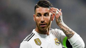 Ramos se lamenta en juego del Real Madrid contra  Voktoria Plzen