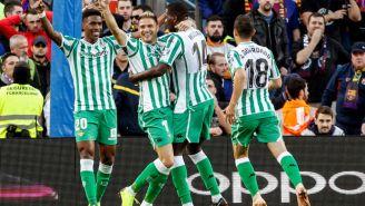 Real Betis celebra victoria frente al Barcelona