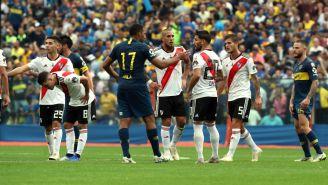 Boca y River durante el encuentro de Ida de la Libertadores