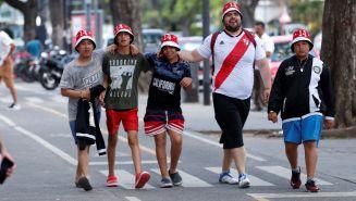 Aficionados de River Plate previo al Superclásico