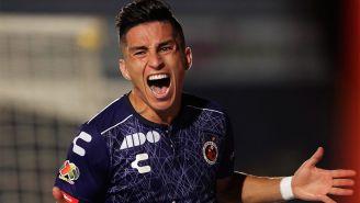 Carrasco celebra su gol en el duelo de Veracruz ante Querétaro