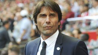 Antonio Conte, durante un partido del Chelsea