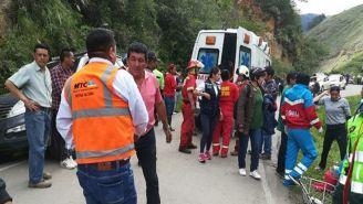 El accidente ocurrió en la carretera rural de la región de Amazonas