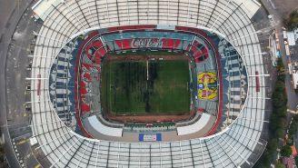 Así luce la cancha del Azteca previo al Chiefs vs Rams
