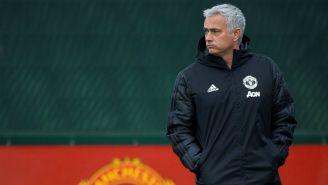 Mourinho en entrenamiento con el Manchester United