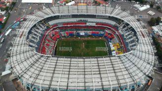 Vista aérea del Estadio Azteca este 13 de noviembre de 2018