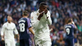 Vinicius Jr festeja un gol con el Real Madrid