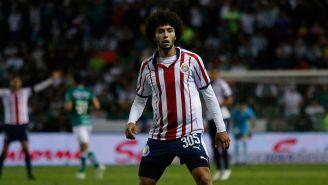 César Huerta, en su debut en Primera División con Chivas