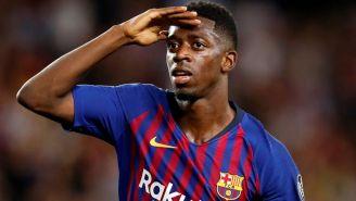 Dembélé, durante un compromiso con el Barcelona