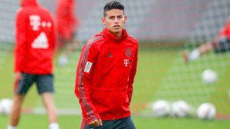 James, durante una sesión con el Bayern