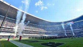 Ceremonia previa al partido de la NFL en México