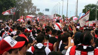 Fans del River Plate previo al encuentro de Ida de la Libertadores