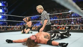 Daniel Bryan después de derrotar a AJ Styles