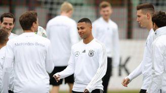 Jugadores de Alemania, en entrenamiento