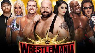 Cartel para la venta de boletos de WrestleMania 35