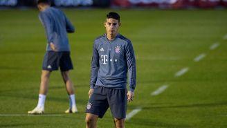James Rodríguez, en entrenamiento del Bayern Munich
