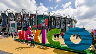 Estadio Azteca 'vestido' para recibir a la NFL