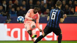 Dembélé manda disparo en juego entre Inter de Milán y Barcelona