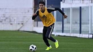 Ochoa, durante un entrenamiento con el Tri